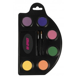 Palette 6 maquillages fluo