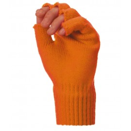 MITAINES TRICOT ORANGE FLUO