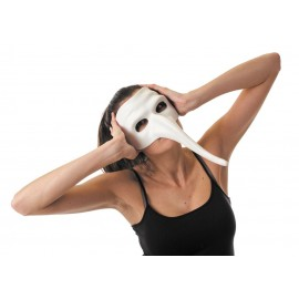 MASQUE VENITIEN BLANC LONG NEZ