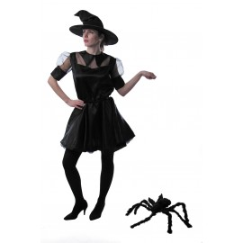 COSTUME IT WITCH NOIR AVEC CHAPEAU