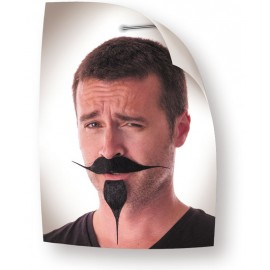 MOUSTACHE BOUC PIRATE NOIR