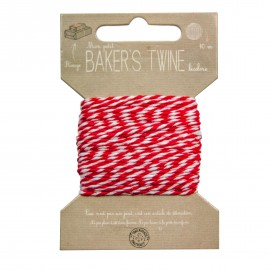 BAKER'S TWINE 10M ROUGE