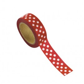 Washi tape rouge à pois