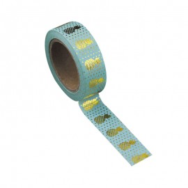 Washi tape celadon ananas or
