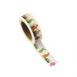 Washi tape lapinous multi