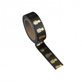 Washi tape noir ananas or