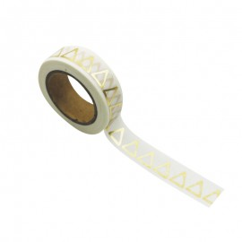 Washi tape triangle d'or