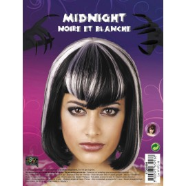 Perruque midnight blanc. noire