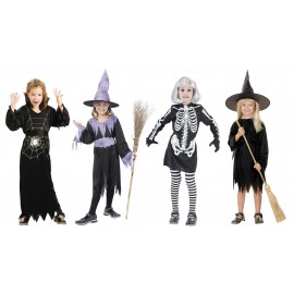 LOT 24 COSTUMES HALLOWEEN FILLE