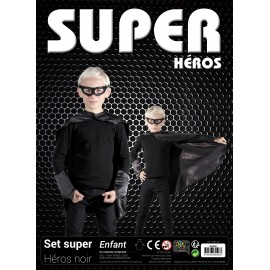 SET SUPER HEROS ENFANT NOIR