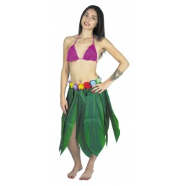 JUPE HAWAI BANANA LEAVES 65CM