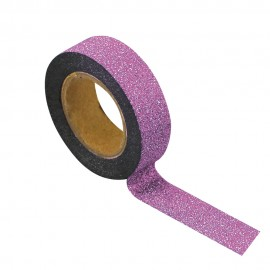 WASHI TAPE GLITTER ROSE CLAIR