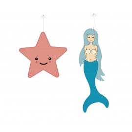SET DE 2 DECORATIONS UNDER THE SEA A SUSPENDRE