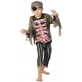 Costume pirate zombie 4-6 ans