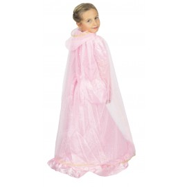 CAPE PRINCESSE PLUME ROSE ET OR ENFANT