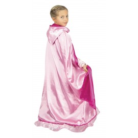 CAPE PRINCESSE REVERSIBLE ROSE ENFANT