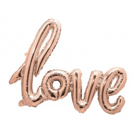 BALLON MYLAR LOVE ROSE GOLD
