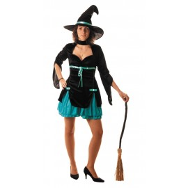 Costume sorcière turquoise sexy