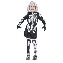 Costume squelette fille 4-6 ans