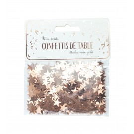 CONFETTIS DE TABLE ÉTOILES ROSE GOLD