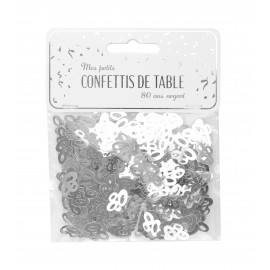 CONFETTIS DE TABLE 80 ARGENT