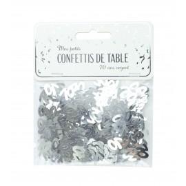 CONFETTIS DE TABLE 70 ARGENT