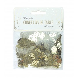 CONFETTIS DE TABLE 60 OR