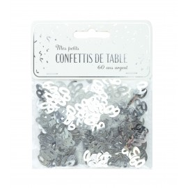 CONFETTIS DE TABLE 60 ARGENT