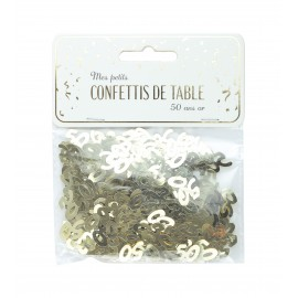 CONFETTIS DE TABLE 50 OR