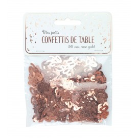 CONFETTIS DE TABLE 50 ROSE GOLD
