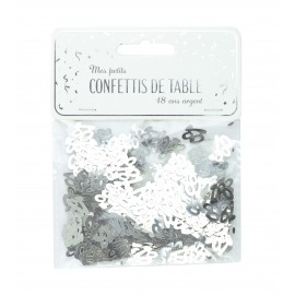 CONFETTIS DE TABLE 18 ARGENT