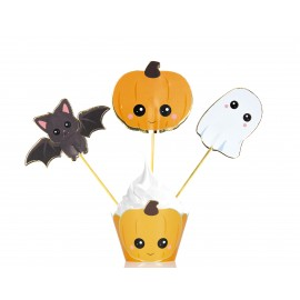 SET DE 3 CAKE TOPPERS SWEETY HALLOWEEN