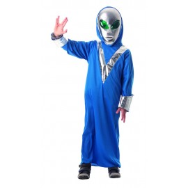 COSTUME MARTIEN 7-9 ANS (MASQUE NON INCLUS)