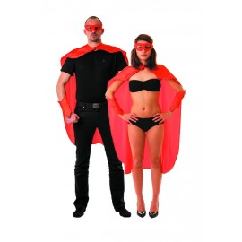 SET SUPER HEROS ROUGE 3PCS