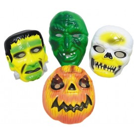 MASQUE HALLOWEEN PVC - 4 MODELES ASSORTIS