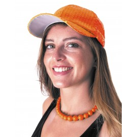CASQUETTE SEQUIN NEON ORANGE