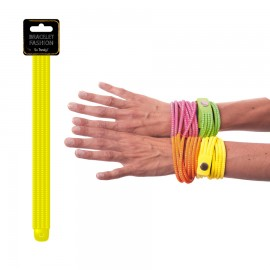 BRACELET FASHION NEON JAUNE