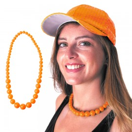 COLLIER PERLE NEON ORANGE