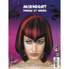 Perruque midnight rouge. noire