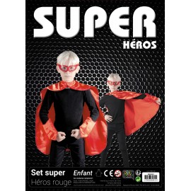 SET SUPER HEROS ENFANT ROUGE