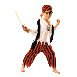 COSTUME MOUSSAILLON PIRATE 7-9 ANS