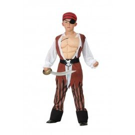 Costume pirate muscle 7-9 ans