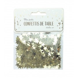 CONFETTIS DE TABLE ÉTOILES OR