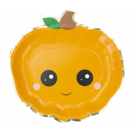 ASSIETTES CITROUILLES SWEETY HALLOWEEN X 8