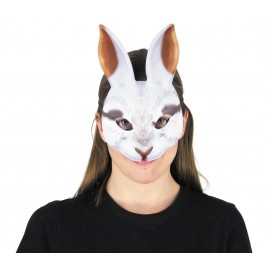 MASQUE REALISTIC WHITE RABBIT