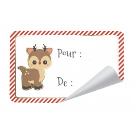 ETIQUETTES CADEAUX ADHESIVES SWEETY XMAS X 12