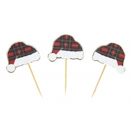 PICS A COCKTAIL BONNET TARTAN X 10PCS