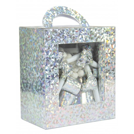 Kit 10 pers. boite luxe argent