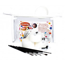 Kit accessoires make-up 14pcs