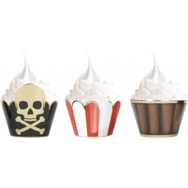 CUPCAKE WRAPPERS PIRATE X 6